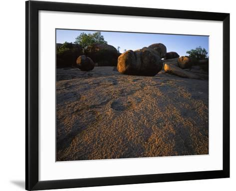Billion year old granite, Elephant Rocks State Park, Missouri, USA-Charles Gurche-Framed Art Print