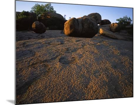 Billion year old granite, Elephant Rocks State Park, Missouri, USA-Charles Gurche-Mounted Photographic Print