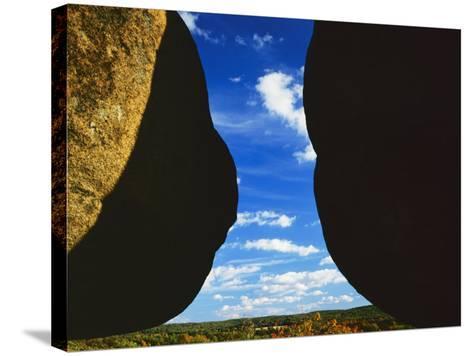 Granite boulders, Elephant Rocks State Park, Missouri, USA-Charles Gurche-Stretched Canvas Print