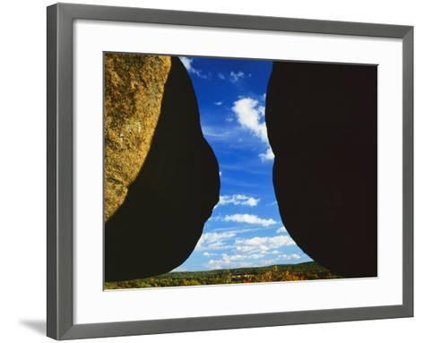 Granite boulders, Elephant Rocks State Park, Missouri, USA-Charles Gurche-Framed Art Print