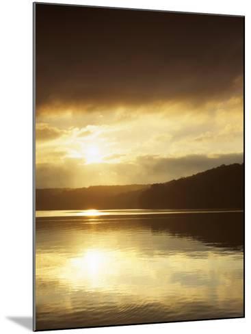 Lake at Sunrise, Lake of the Ozarks, Missouri, USA-Charles Gurche-Mounted Photographic Print
