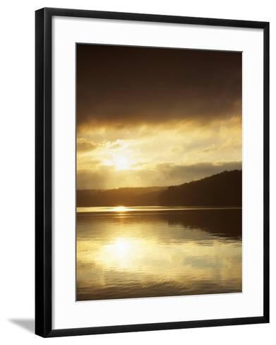 Lake at Sunrise, Lake of the Ozarks, Missouri, USA-Charles Gurche-Framed Art Print