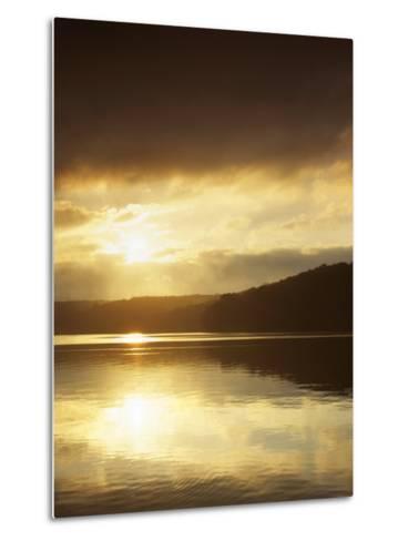 Lake at Sunrise, Lake of the Ozarks, Missouri, USA-Charles Gurche-Metal Print