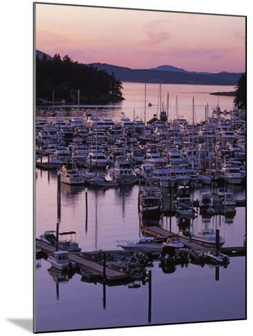 Roche Harbor Marina At dusk, San Juan Island, Washington, USA-Charles Gurche-Mounted Photographic Print