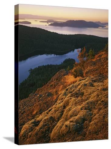 Sunrise from Mt. Constitution, Moran State Park, Orcas Island, Washington, USA-Charles Gurche-Stretched Canvas Print