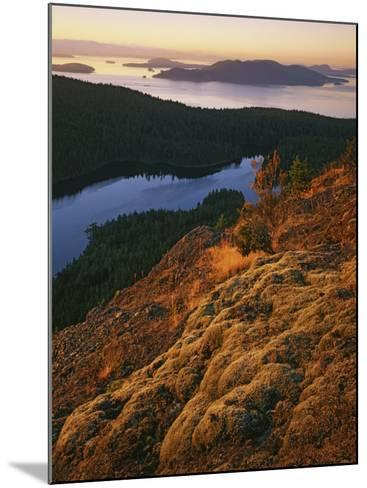 Sunrise from Mt. Constitution, Moran State Park, Orcas Island, Washington, USA-Charles Gurche-Mounted Photographic Print