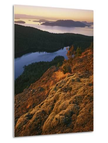Sunrise from Mt. Constitution, Moran State Park, Orcas Island, Washington, USA-Charles Gurche-Metal Print