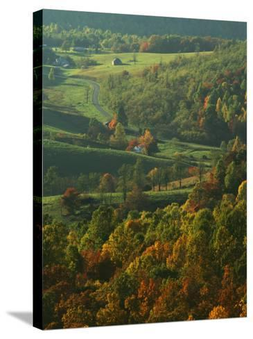 Autumn, Blue Ridge Parkway, Virginia, USA-Charles Gurche-Stretched Canvas Print