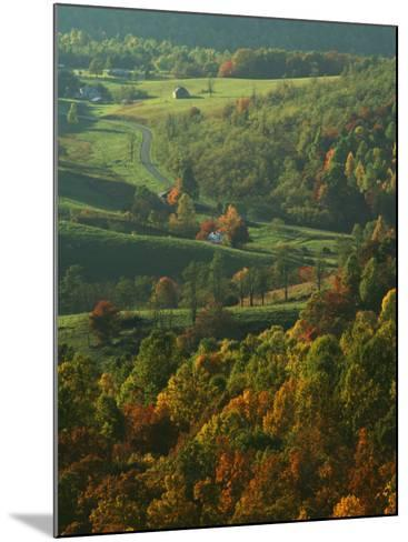 Autumn, Blue Ridge Parkway, Virginia, USA-Charles Gurche-Mounted Photographic Print