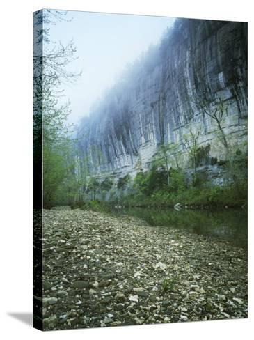 Roark Bluff, Buffalo National River, Arkansas, USA-Charles Gurche-Stretched Canvas Print