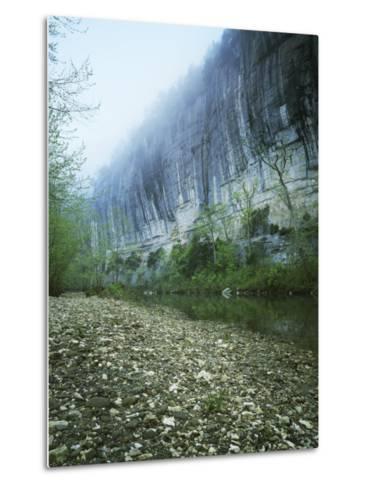 Roark Bluff, Buffalo National River, Arkansas, USA-Charles Gurche-Metal Print