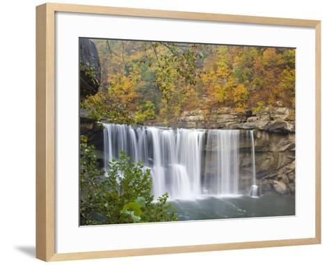Cumberland Falls State Park near Corbin, Kentucky, USA-Chuck Haney-Framed Art Print