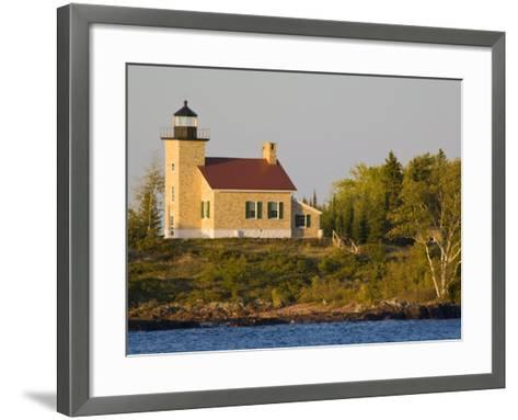 Lighthouse on Lake Superior, Copper Harbor, Michigan, USA-Chuck Haney-Framed Art Print