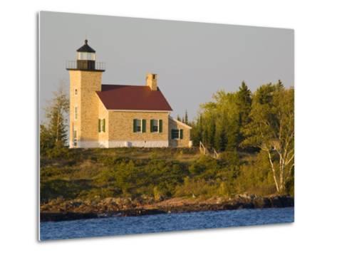 Lighthouse on Lake Superior, Copper Harbor, Michigan, USA-Chuck Haney-Metal Print