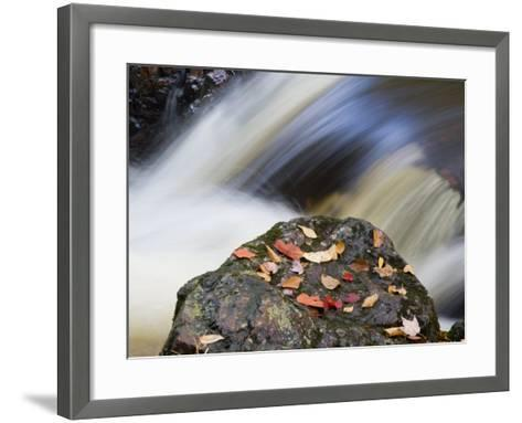 Overlooked Falls, Porcupine Mountains Wilderness State Park, Michigan, USA-Chuck Haney-Framed Art Print