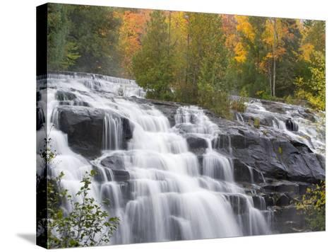 Bond Falls on the Middle Fork of the Ontonagon river near Paulding, Michigan, USA-Chuck Haney-Stretched Canvas Print