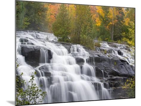 Bond Falls on the Middle Fork of the Ontonagon river near Paulding, Michigan, USA-Chuck Haney-Mounted Photographic Print