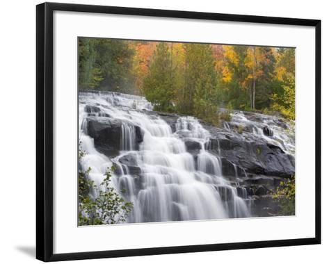 Bond Falls on the Middle Fork of the Ontonagon river near Paulding, Michigan, USA-Chuck Haney-Framed Art Print