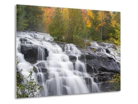 Bond Falls on the Middle Fork of the Ontonagon river near Paulding, Michigan, USA-Chuck Haney-Metal Print