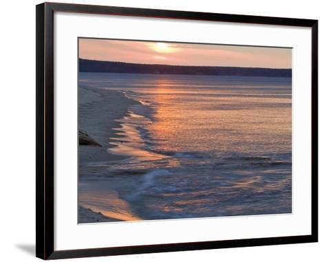 Miners Beach at Pictured Rocks National Lakeshore, Munising, Michigan, USA-Chuck Haney-Framed Art Print
