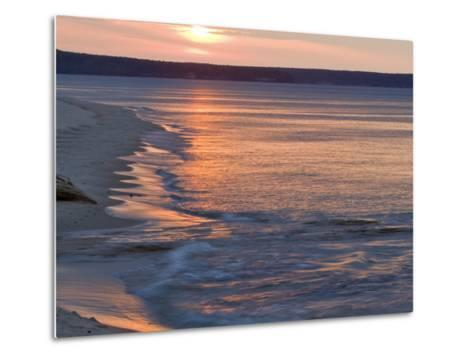 Miners Beach at Pictured Rocks National Lakeshore, Munising, Michigan, USA-Chuck Haney-Metal Print