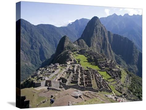 Lost Inca City of Machu Picchu, Intipunku, Peru-Diane Johnson-Stretched Canvas Print
