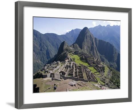 Lost Inca City of Machu Picchu, Intipunku, Peru-Diane Johnson-Framed Art Print