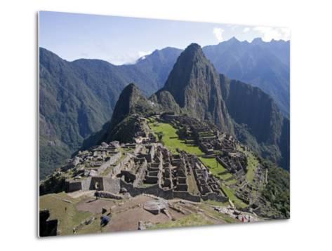 Lost Inca City of Machu Picchu, Intipunku, Peru-Diane Johnson-Metal Print