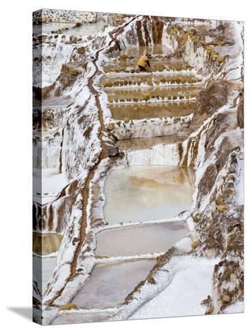 Salt Ponds, Maras, Peru-Diane Johnson-Stretched Canvas Print