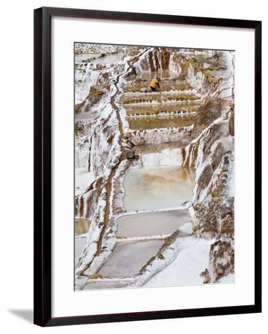 Salt Ponds, Maras, Peru-Diane Johnson-Framed Art Print