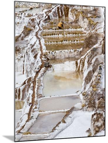 Salt Ponds, Maras, Peru-Diane Johnson-Mounted Photographic Print