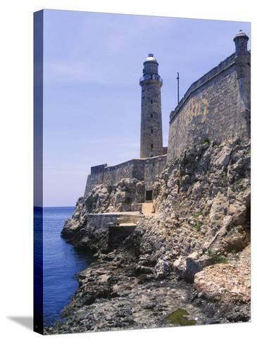 Thick Stone Walls, El Morro Fortress, La Havana, Cuba-Greg Johnston-Stretched Canvas Print