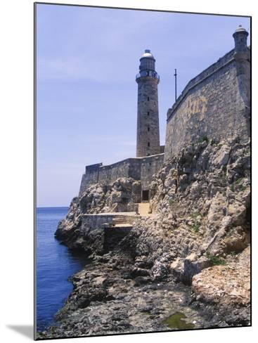 Thick Stone Walls, El Morro Fortress, La Havana, Cuba-Greg Johnston-Mounted Photographic Print