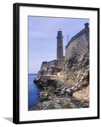 Thick Stone Walls, El Morro Fortress, La Havana, Cuba-Greg Johnston-Framed Art Print