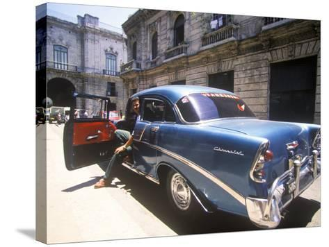 Beautiful Classic Chevrolet, Havana, Cuba-Greg Johnston-Stretched Canvas Print