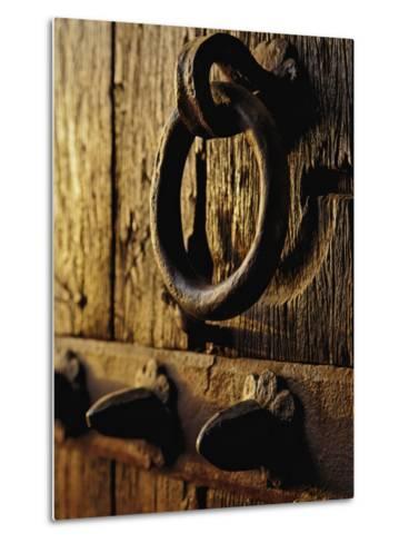 Details of entry gate doorway to Humayun's Tomb, Nizamuddin, India-Adam Jones-Metal Print