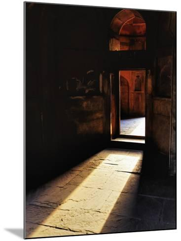 Afternon sunlight through doorway, Tomb of Mohammed Shah, Lodhi Gardens, New Delhi, India-Adam Jones-Mounted Photographic Print