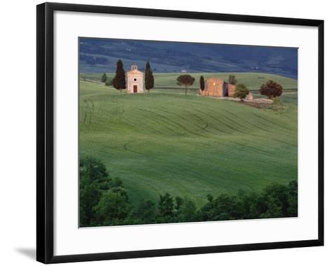 Chapel San Quirico d'Orcia, Tuscany, Italy-Adam Jones-Framed Art Print