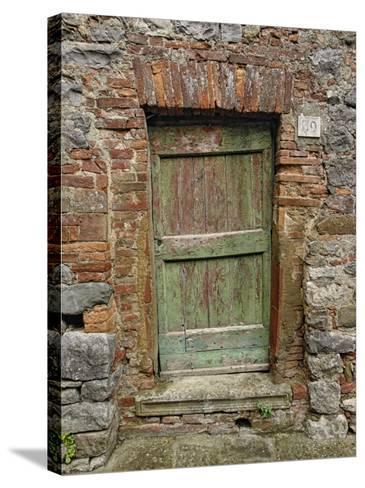 Old Doorway, Lucignano, Tuscany, Italy-Adam Jones-Stretched Canvas Print