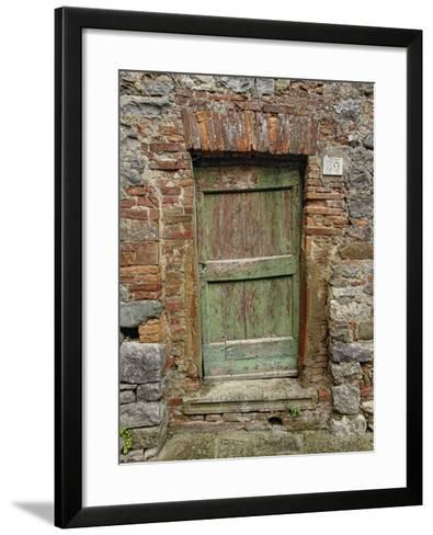 Old Doorway, Lucignano, Tuscany, Italy-Adam Jones-Framed Art Print
