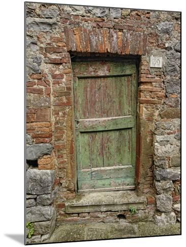 Old Doorway, Lucignano, Tuscany, Italy-Adam Jones-Mounted Photographic Print
