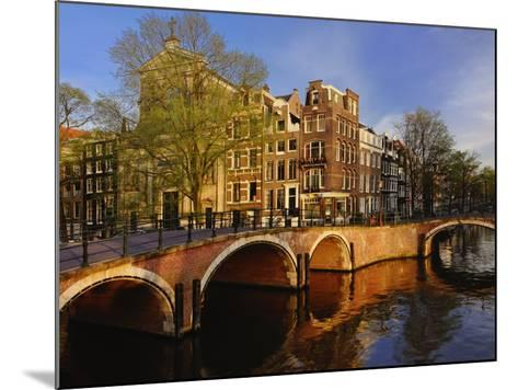 Canals at dusk, Amsterdam, Holland, Netherlands-Adam Jones-Mounted Photographic Print