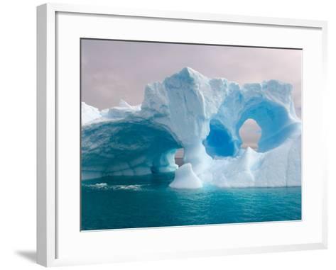 Arched Iceberg, Western Antarctic Peninsula, Antarctica-Steve Kazlowski-Framed Art Print