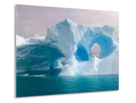 Arched Iceberg, Western Antarctic Peninsula, Antarctica-Steve Kazlowski-Metal Print