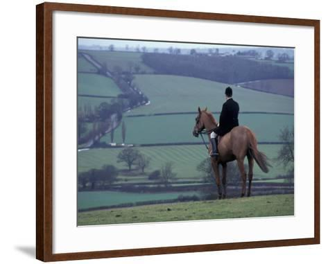 Man on horse, Leicestershire, England-Alan Klehr-Framed Art Print