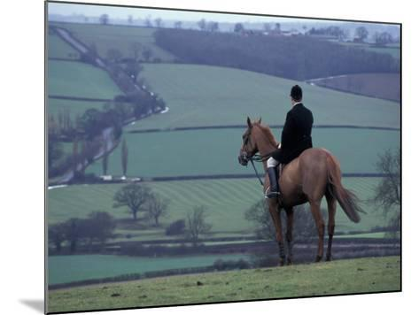 Man on horse, Leicestershire, England-Alan Klehr-Mounted Photographic Print