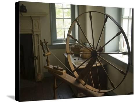 Spinning Wheel in Old Stone House, Georgetown, Washington D.C., USA-John & Lisa Merrill-Stretched Canvas Print