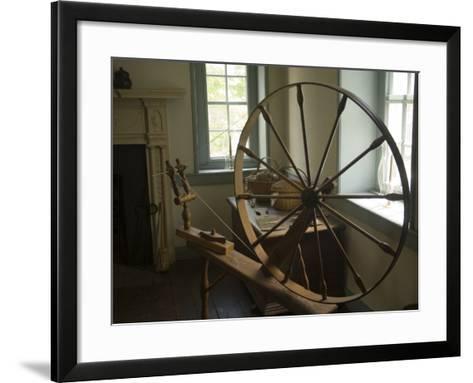 Spinning Wheel in Old Stone House, Georgetown, Washington D.C., USA-John & Lisa Merrill-Framed Art Print