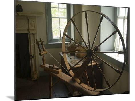 Spinning Wheel in Old Stone House, Georgetown, Washington D.C., USA-John & Lisa Merrill-Mounted Photographic Print