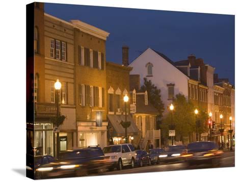M Street Northwest At Dusk, Georgetown, Washington D.C., USA-John & Lisa Merrill-Stretched Canvas Print